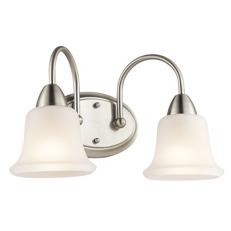 kichler bathroom light fixtures kichler 45882ni brushed nickel nicholson 16 quot wide 2 bulb 18958