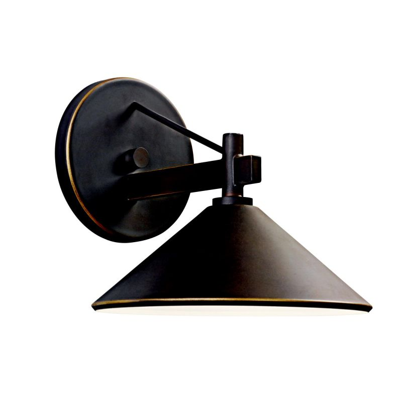 "Kichler 49059 Ripley Collection 1 Light 8"" Outdoor Wall Light Olde"