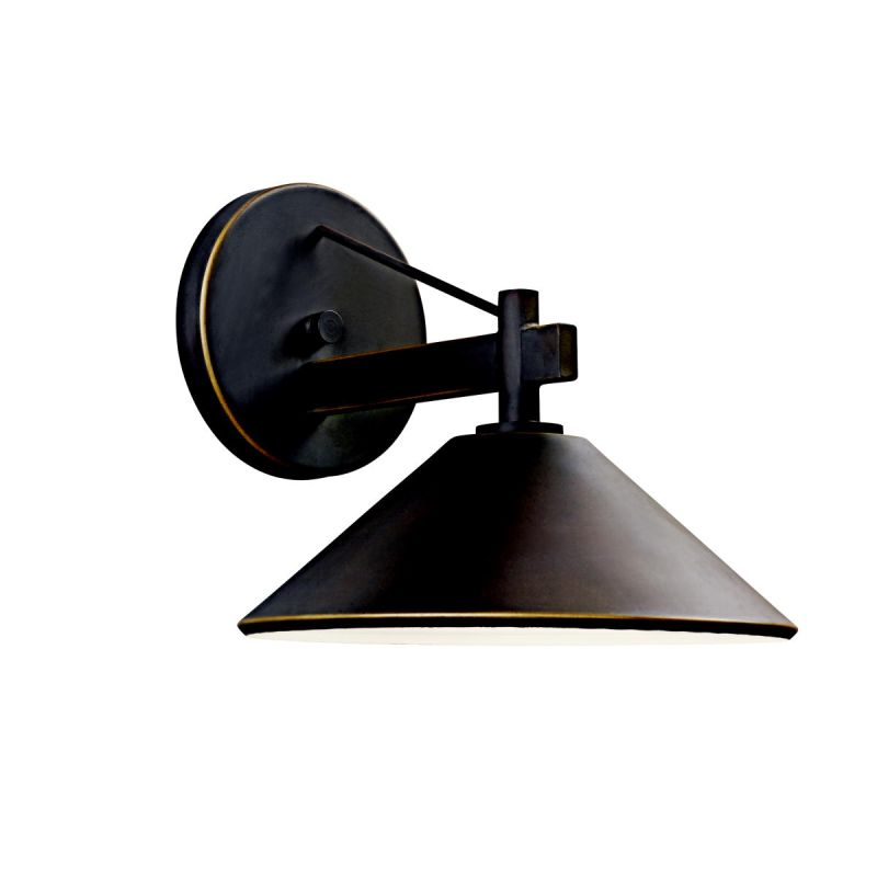 "Kichler 49060 Ripley Collection 1 Light 9"" Outdoor Wall Light Olde"