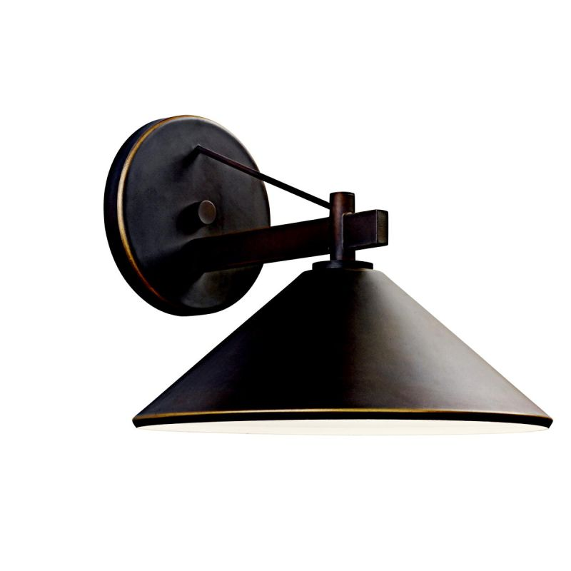 "Kichler 49061 Ripley Collection 1 Light 10"" Outdoor Wall Light Olde"