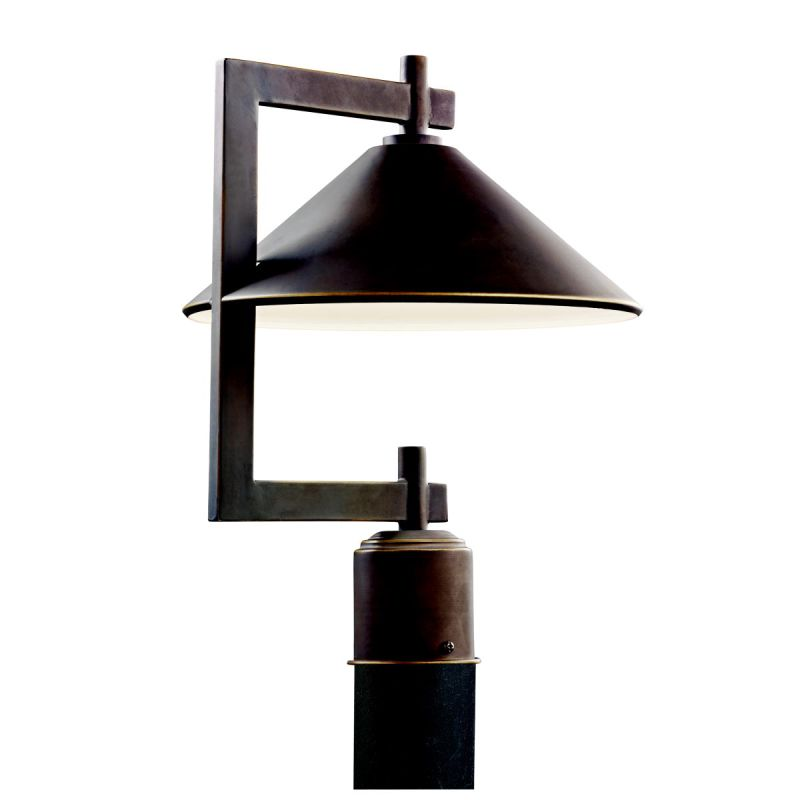 Kichler 49063 Single Light Outdoor Post Light from the Ripley