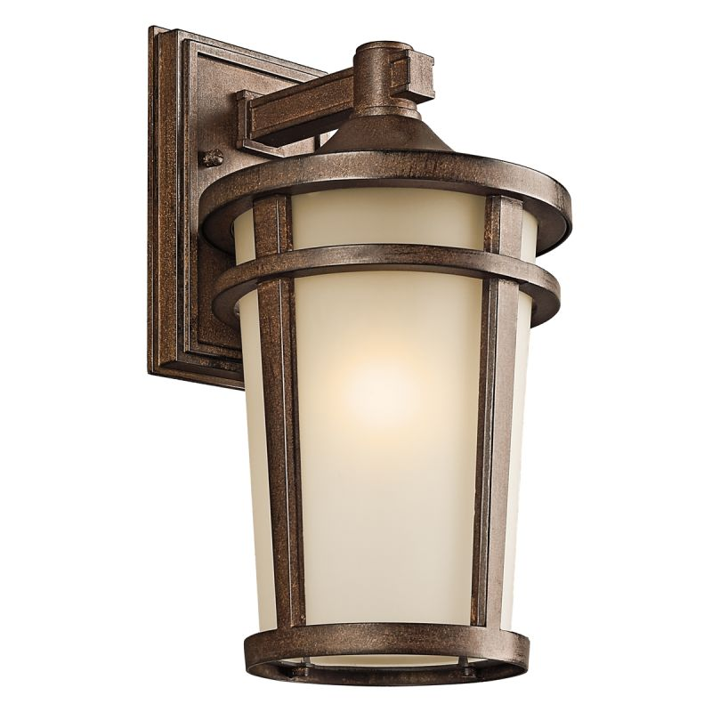 """Kichler 49072 Atwood Collection 1 Light 14"""" Outdoor Wall Light Brown"""