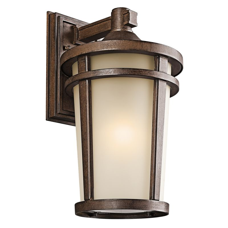 """Kichler 49073 Atwood Collection 1 Light 18"""" Outdoor Wall Light Brown"""