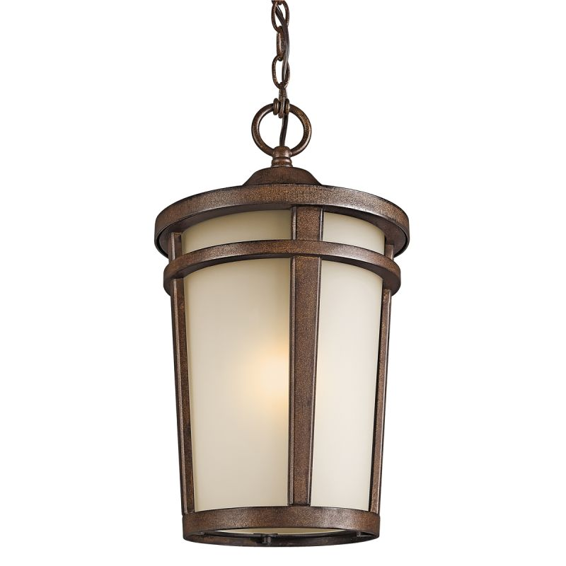 Kichler 49075 1 Light Outdoor Pendant from the Atwood Collection Brown