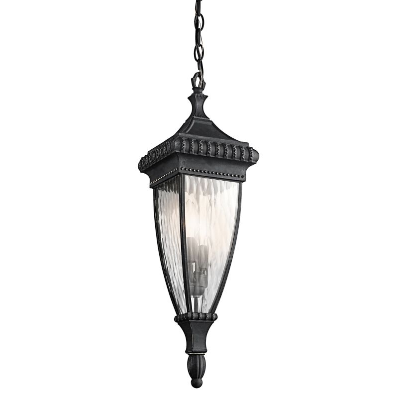 Kichler 49134 Two Light Outdoor Pendant from the Venetian Rain Sale $235.40 ITEM: bci1222338 ID#:49134BKG UPC: 783927305334 :