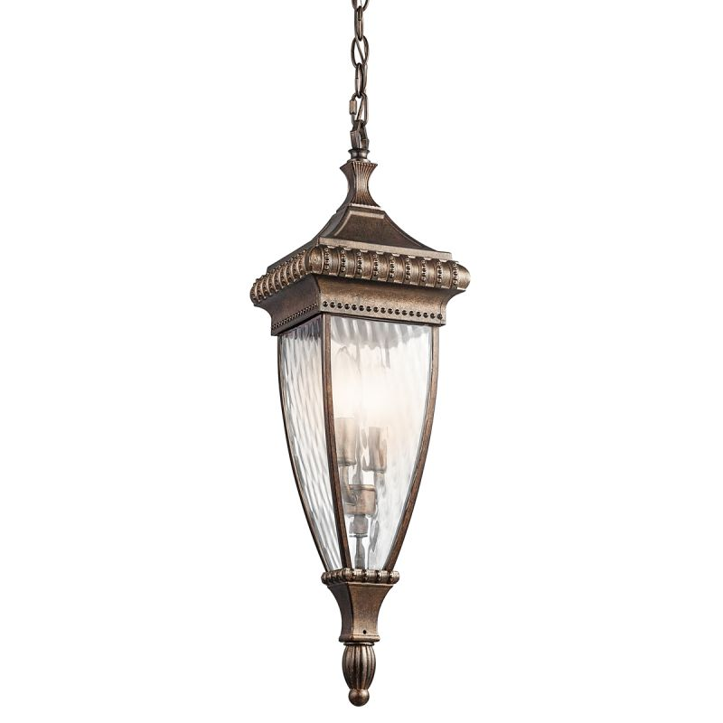 Kichler 49134 Two Light Outdoor Pendant from the Venetian Rain Sale $235.40 ITEM: bci1222339 ID#:49134BRZ UPC: 783927305341 :
