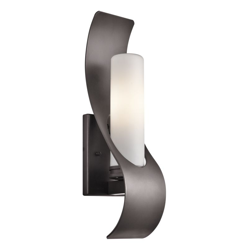 """Kichler 49149 Zolder Single Light 17"""" Tall Outdoor Wall Sconce with"""