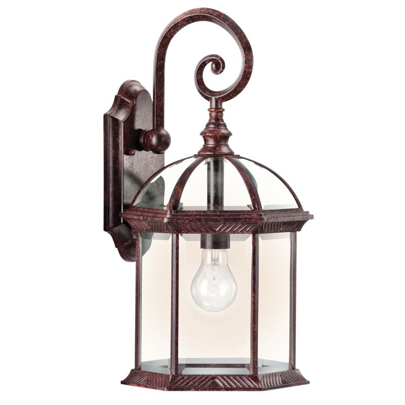 "Kichler 49186 Barrie Collection 1 Light 19"" Outdoor Wall Light Tannery"