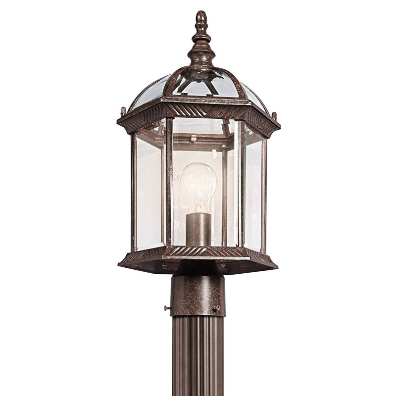 Kichler 49187 1 Light Outdoor Post Light from the Barrie Collection Sale $100.80 ITEM: bci1222414 ID#:49187TZ UPC: 783927314022 :