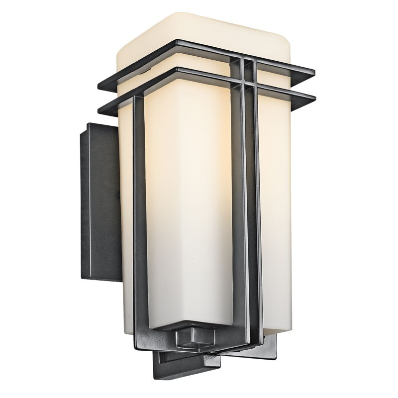 "Kichler 49200 Tremillo Single Light 12"" Tall Outdoor Wall Sconce with"