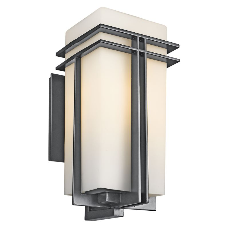 "Kichler 49203 Tremillo Collection 1 Light 20"" Outdoor Wall Light Black"