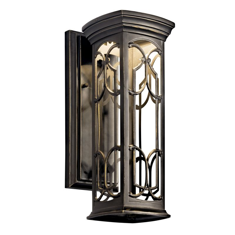 "Kichler 49226LED Franceasi Single Light 15"" Tall LED Outdoor Wall Sale $180.00 ITEM: bci1222440 ID#:49226OZLED UPC: 783927311250 :"