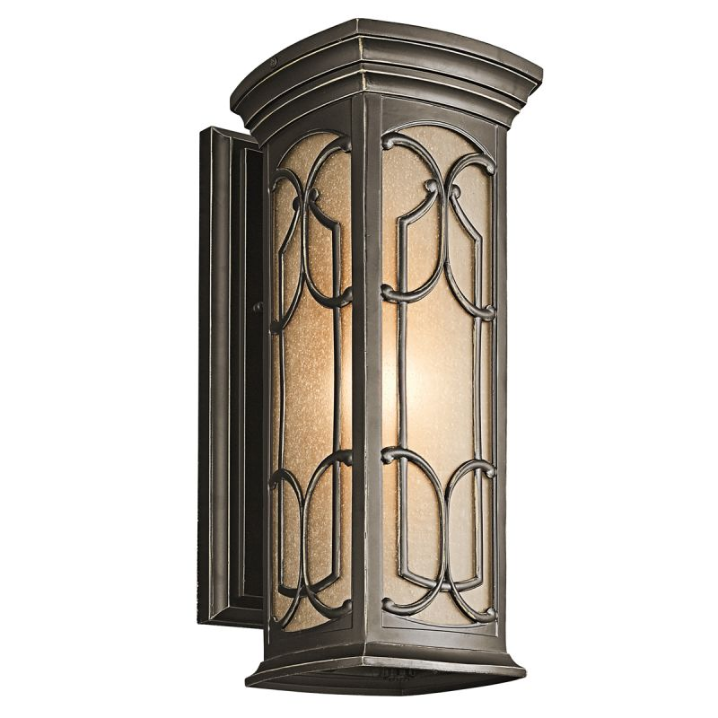 "Kichler 49227 Franceasi Single Light 18"" Tall Outdoor Wall Sconce with Sale $185.00 ITEM: bci1222441 ID#:49227OZ UPC: 783927312752 :"