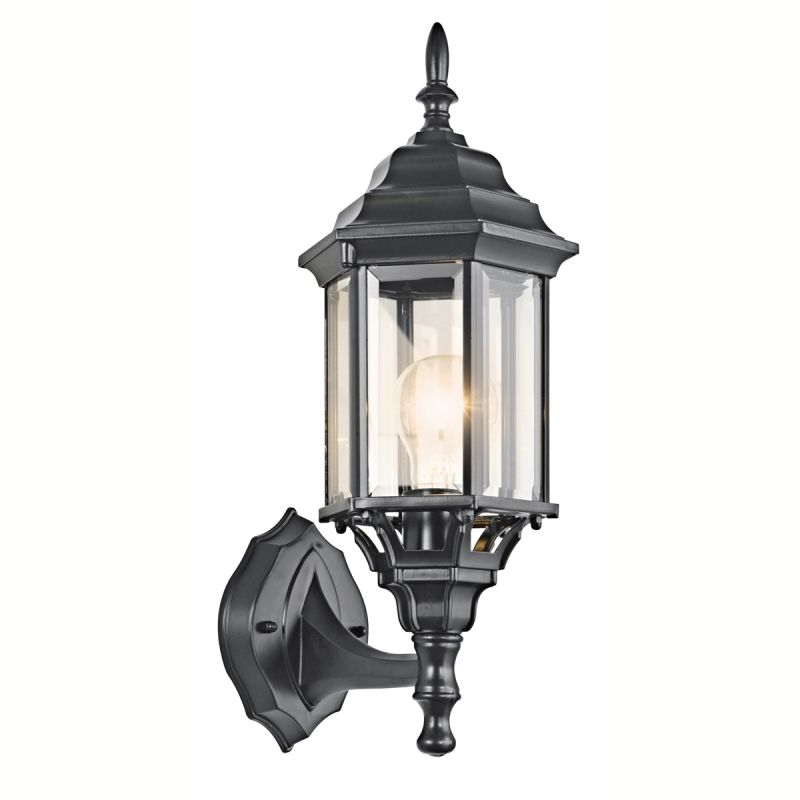 Kichler 49255 Chesapeake 1 Light Outdoor Wall Sconce Black (Painted)