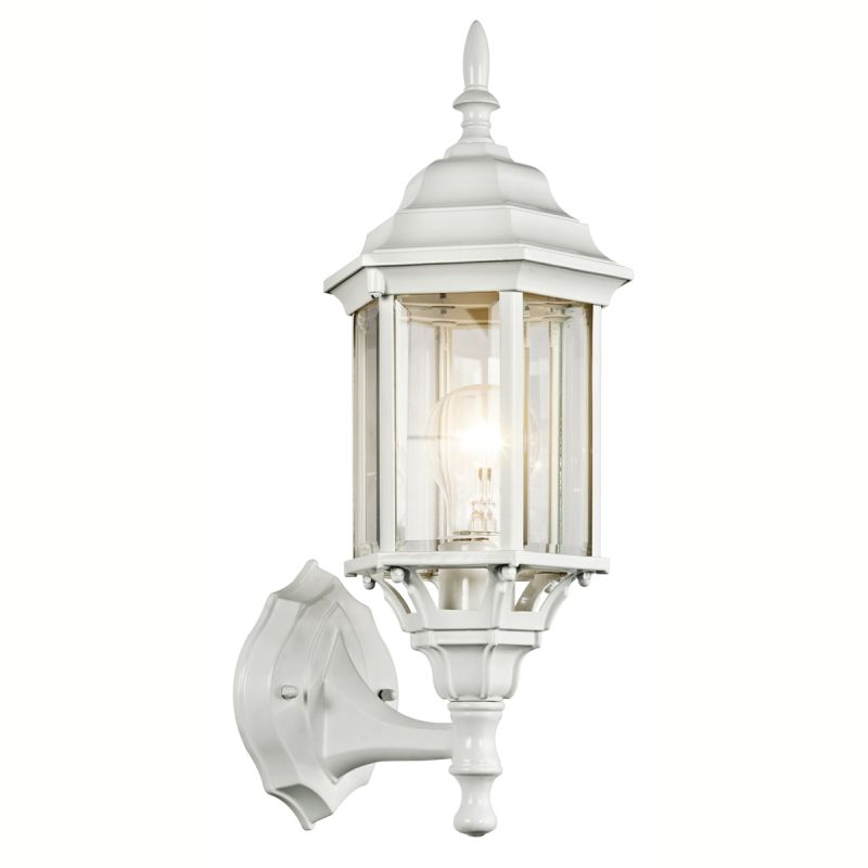 Kichler 49255 Chesapeake 1 Light Outdoor Wall Sconce White Outdoor