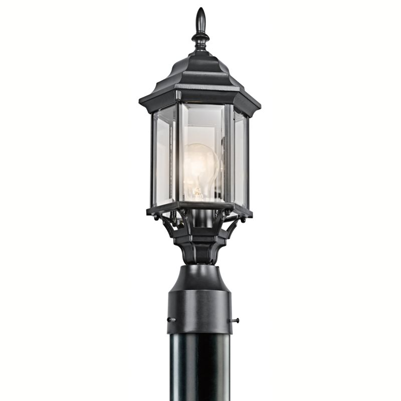 Kichler 49256 Chesapeake 1 Light Outdoor Post Light Black (Painted)