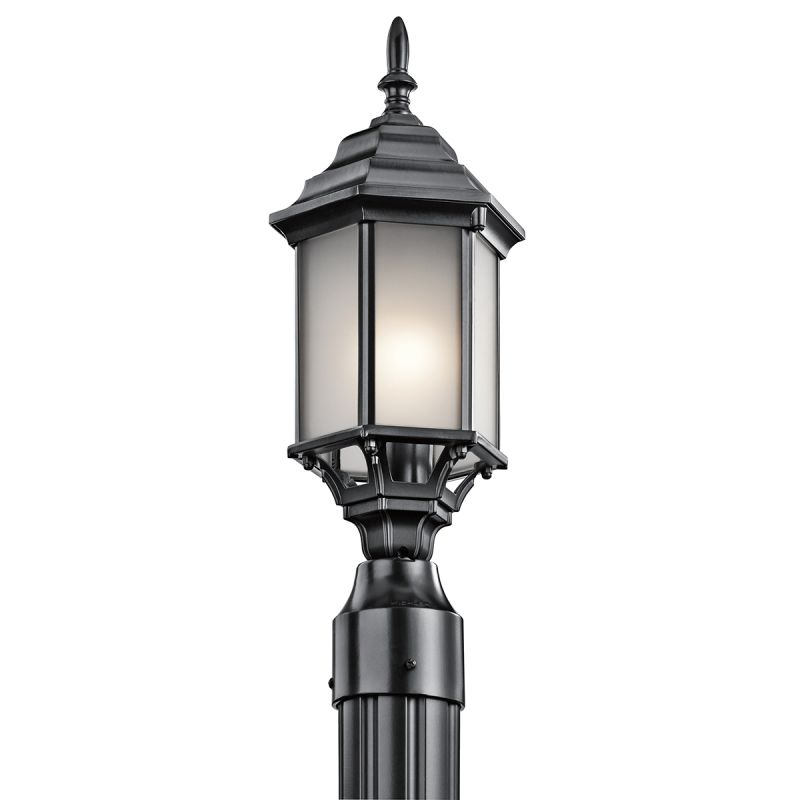 Kichler 49256 Chesapeake 1 Light Outdoor Post Light Black Outdoor