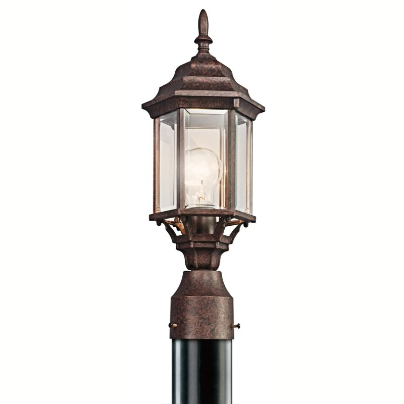 Kichler 49256 Chesapeake 1 Light Outdoor Post Light Tannery Bronze