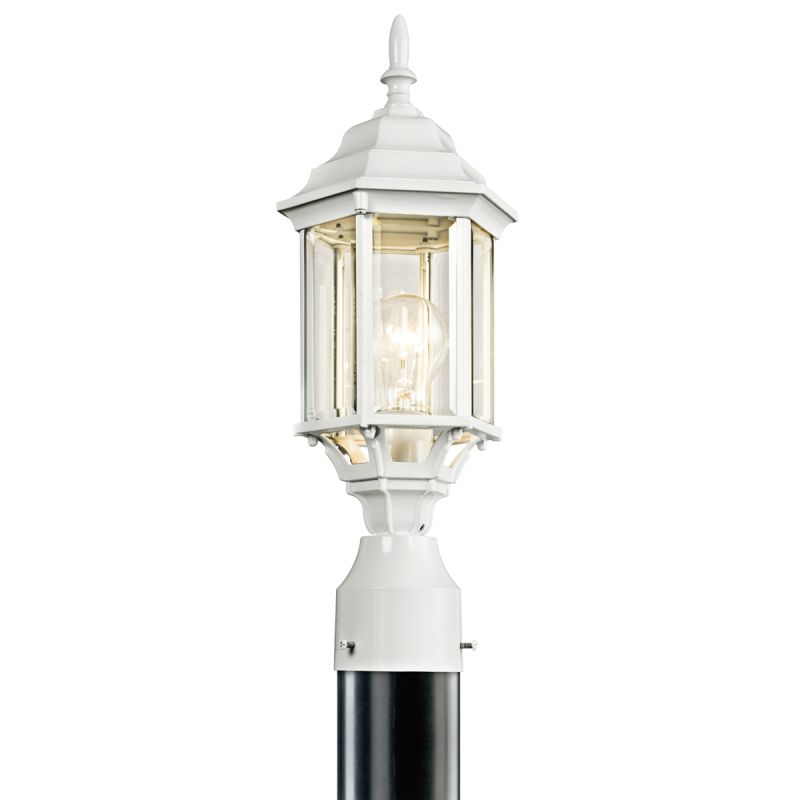 Kichler 49256 Chesapeake 1 Light Outdoor Post Light White Outdoor