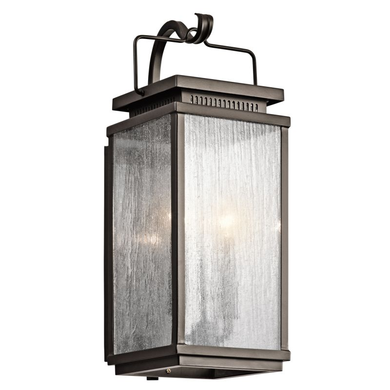 "Kichler 49385 Manningham Collection 2 Light 19"" Outdoor Wall Light"