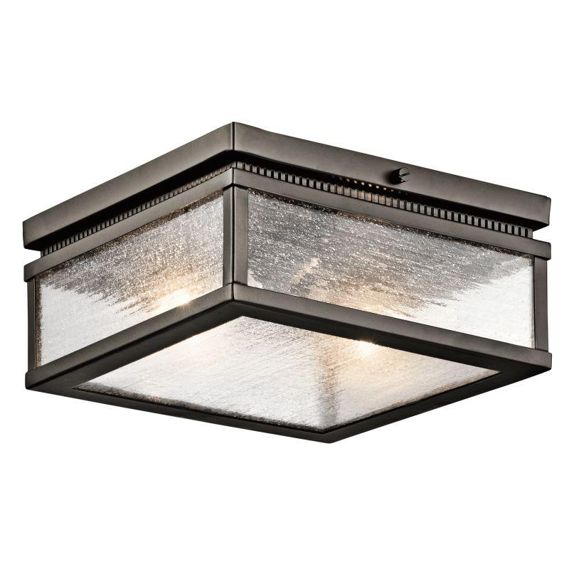 Kichler 49389 Manningham 2-Bulb Semi-Flush Outdoor Ceiling Fixture