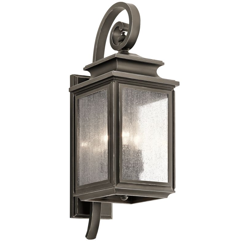 "Kichler 49502 Wiscombe Park 3 Light 21.75"" Outdoor Wall Light Olde"
