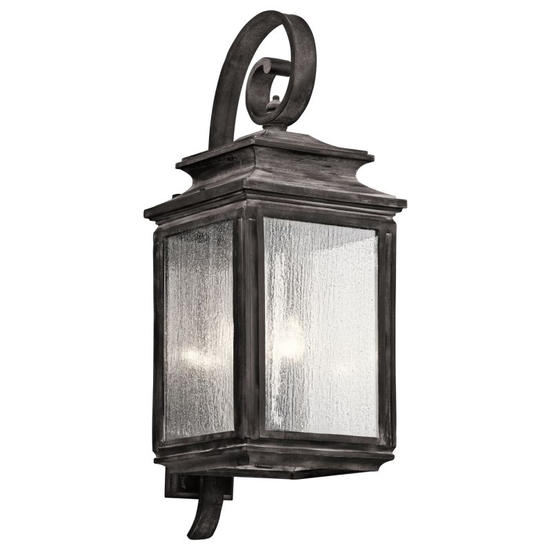 "Kichler 49504 Wiscombe Park 4 Light 30.5"" Outdoor Wall Light Weathered"