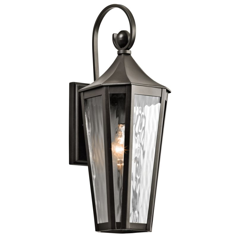"""Kichler 49512 Rochdale Single Light 19"""" Tall Outdoor Wall Sconce with"""
