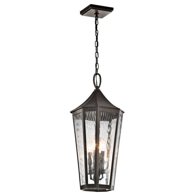 Kichler 49517 Rochdale 4 Light Outdoor Pendant Olde Bronze Outdoor