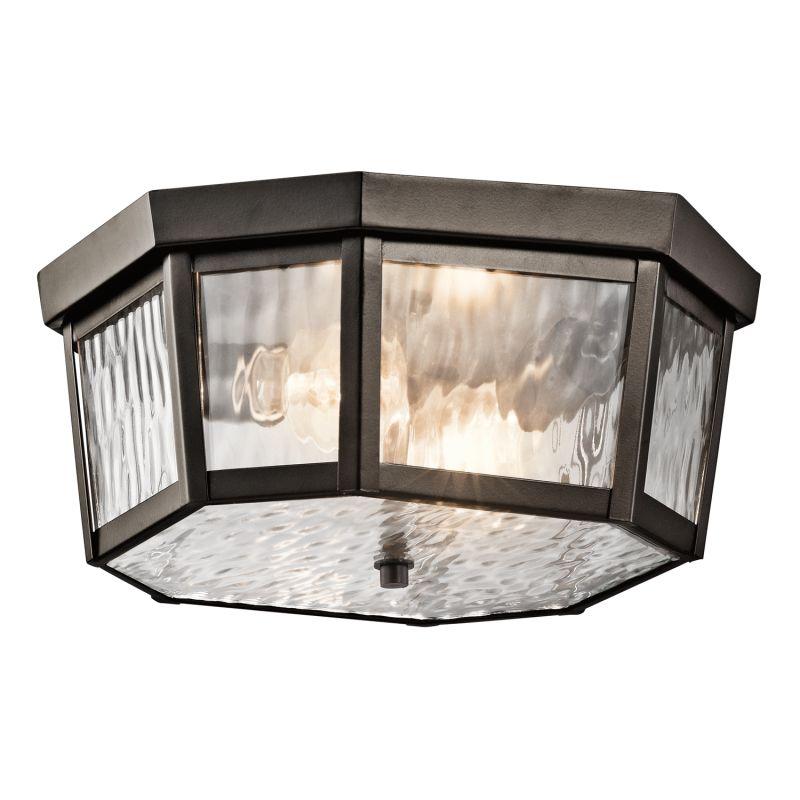 Kichler 49518 Rochdale 2-Bulb Semi-Flush Outdoor Ceiling Fixture Olde