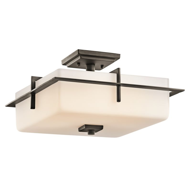 Kichler 49641 Caterham 3 Light Semi-flush Indoor / Outdoor Ceiling Sale $327.80 ITEM: bci1796598 ID#:49641OZ UPC: 783927289764 :