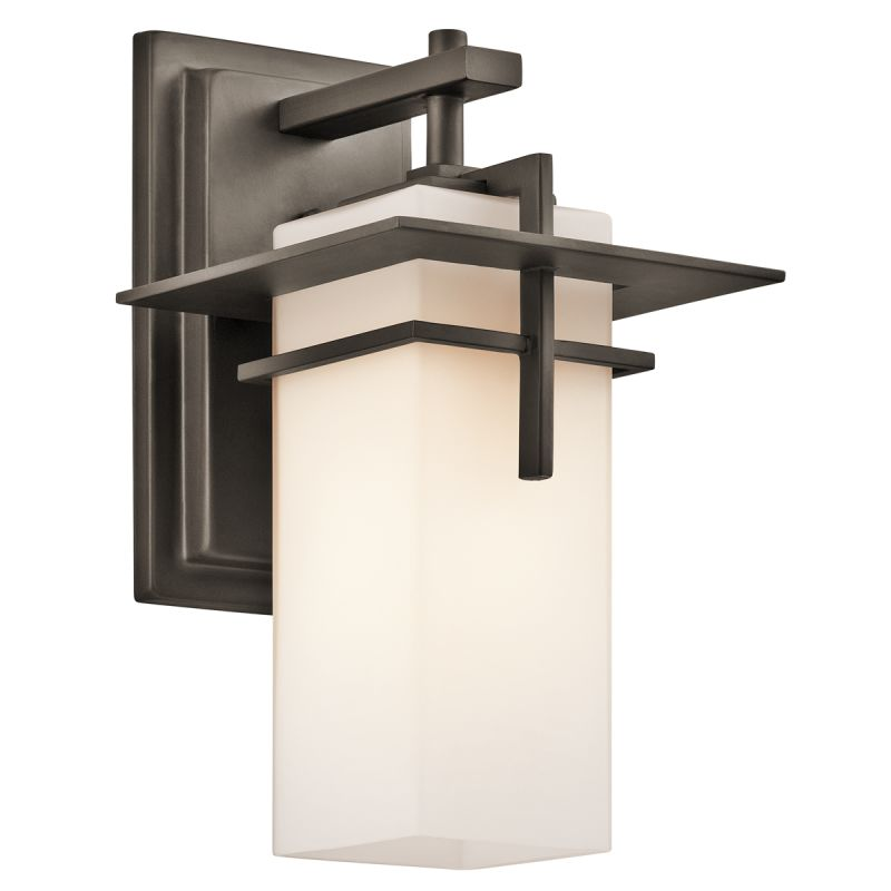 """Kichler 49642 Caterham Single Light 12"""" Tall Outdoor Wall Sconce with"""