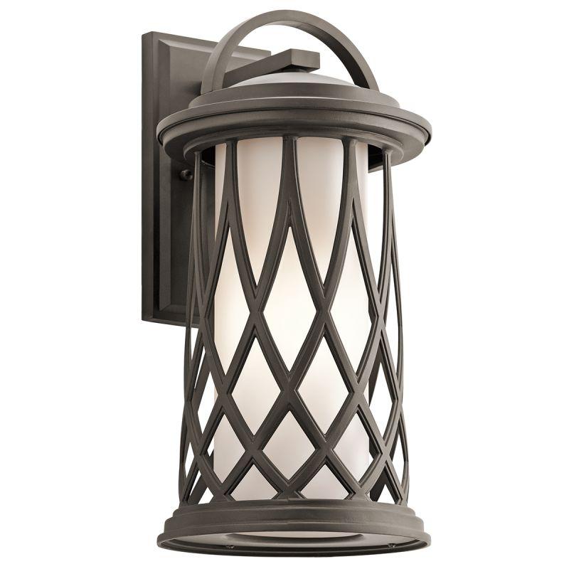 Kichler 49683 Pebble Lane 1 Light Outdoor Wall Sconce Olde Bronze Sale $297.00 ITEM: bci2850713 ID#:49683OZ UPC: 783927469470 :