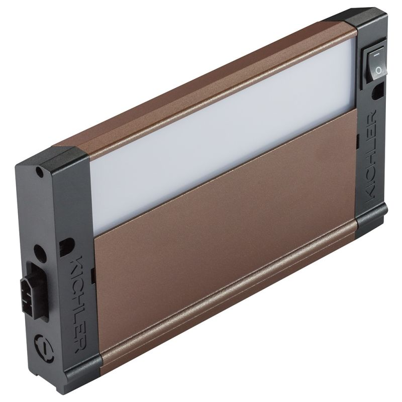 "Kichler 4U27K08 8"" LED Under Cabinet Light Bar - 2700K Textured Bronze"