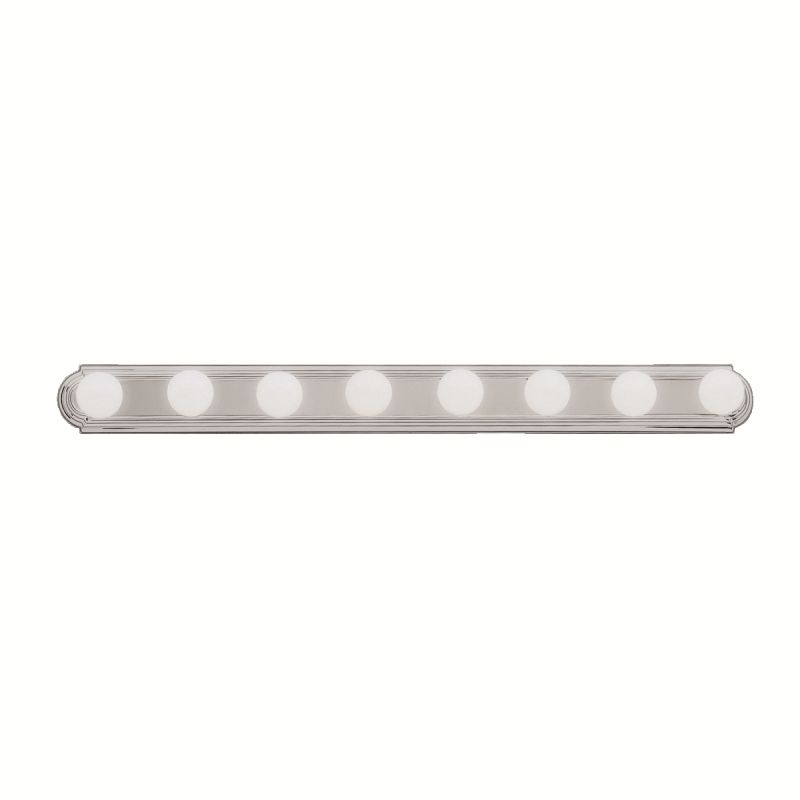 brushed nickel bath vanity 48 wide 8 bulb bathroom lighting fixtu