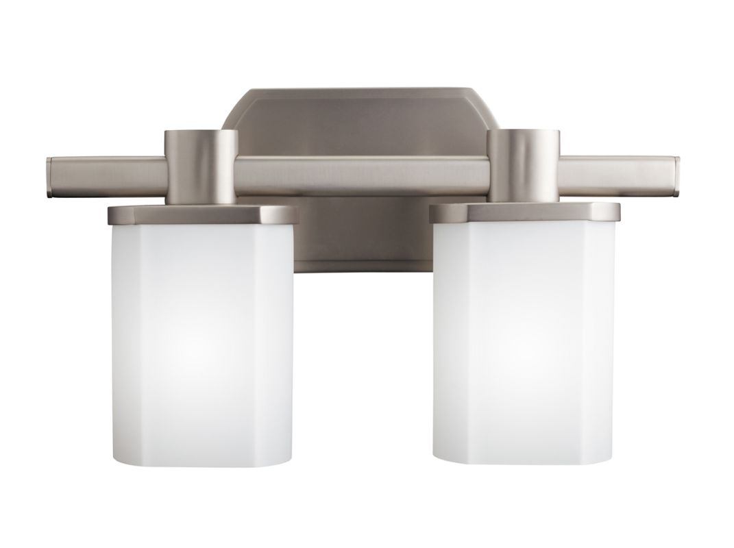 "Kichler 5052 Lege 15.25"" Wide 2-Bulb Bathroom Lighting Fixture Brushed"