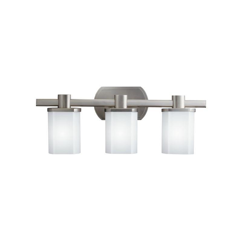 "Kichler 5053 Lege 22.75"" Wide 3-Bulb Bathroom Lighting Fixture Brushed"