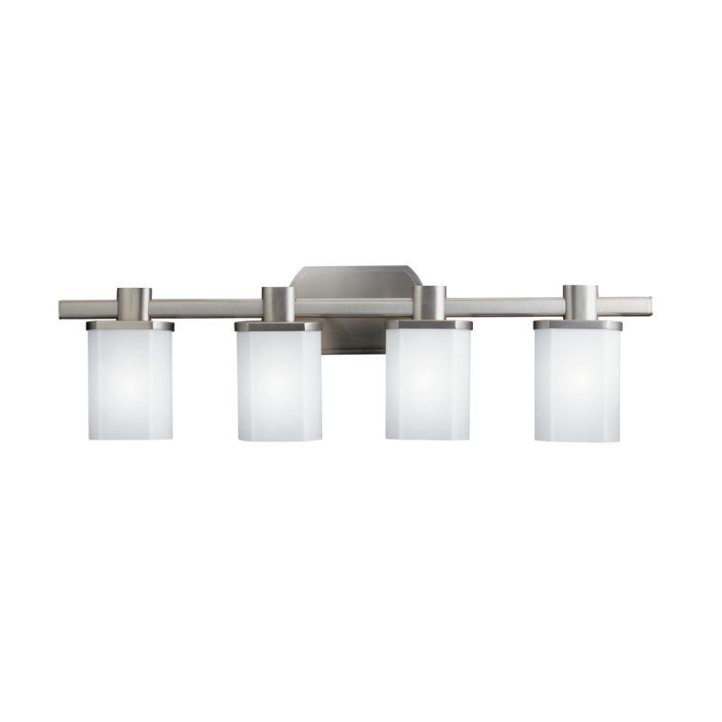"Kichler 5054 Lege 30.5"" Wide 4-Bulb Bathroom Lighting Fixture Brushed"