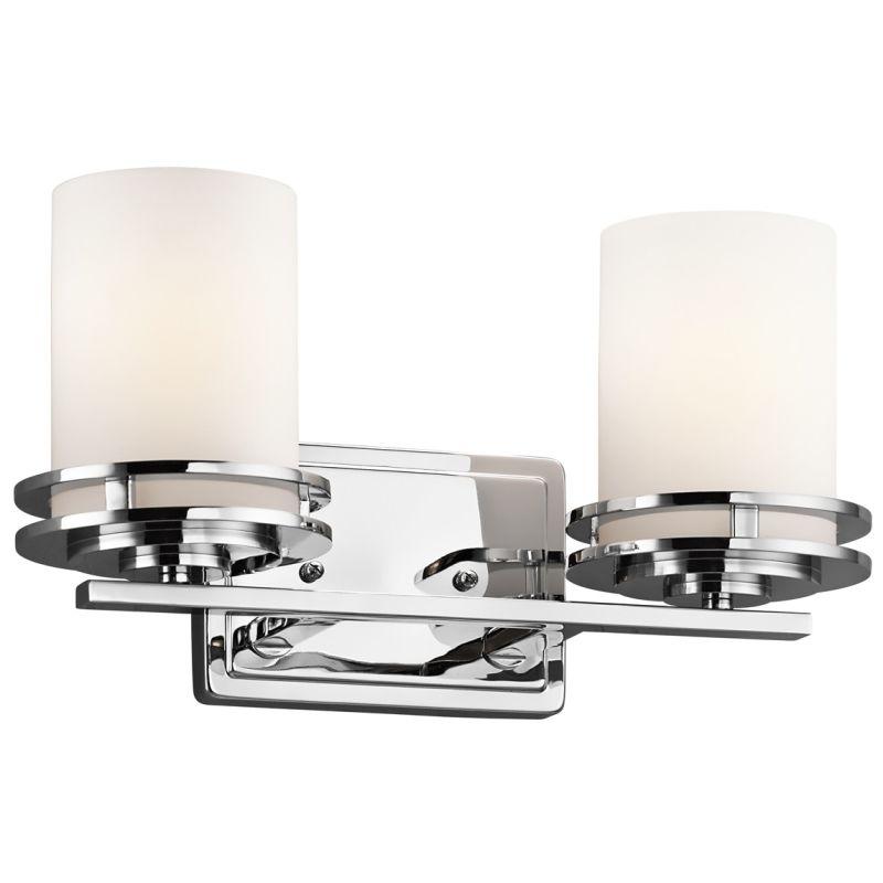 """Kichler 5077 Hendrik 2 Light 15"""" Wide Vanity Light Bathroom Fixture"""