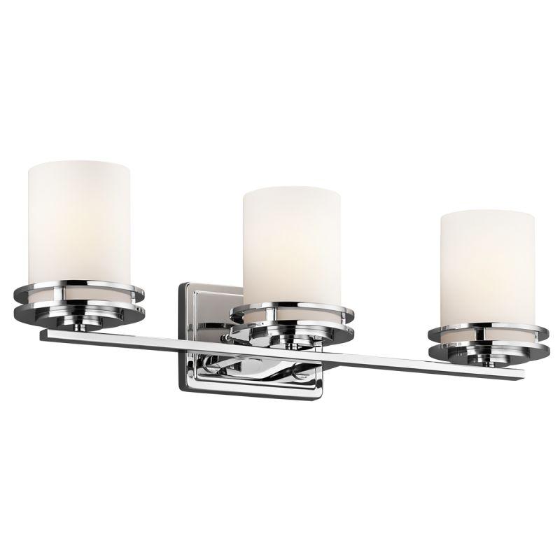 Kichler Lighting 3 Up Light Vanity Bathroom Fixture In Chrome 5078CH