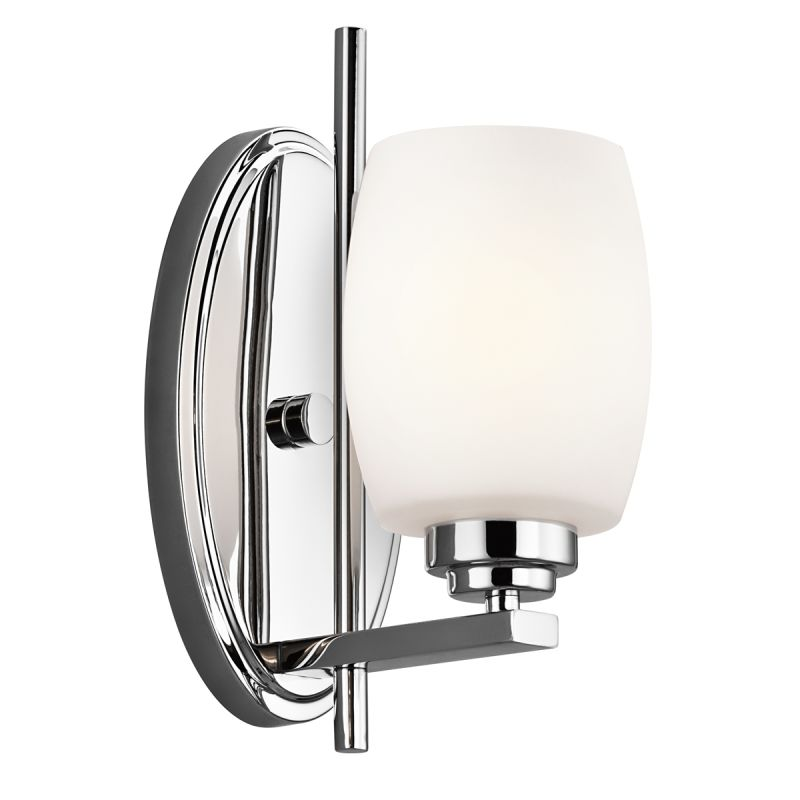 Kichler 5096ch Chrome Eileen 4 5 Wide Single Bulb Bathroom Lighting Fixture