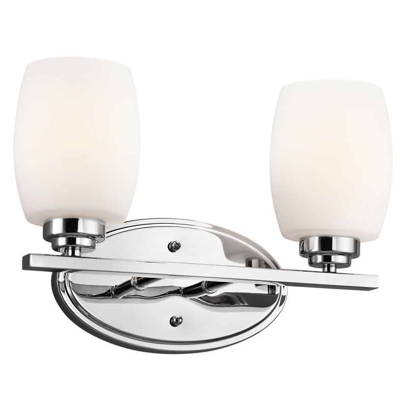 "Kichler 5097 Eileen 14.5"" Wide 2-Bulb Bathroom Lighting Fixture Chrome"