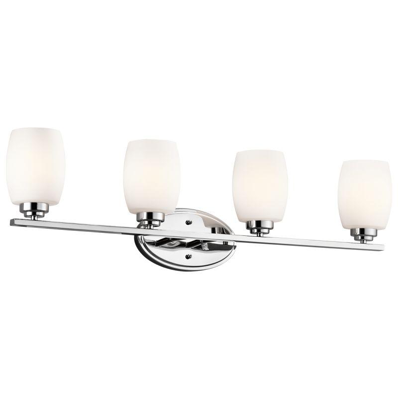 "Kichler 5099 Eileen 34"" Wide 4-Bulb Bathroom Lighting Fixture Chrome"
