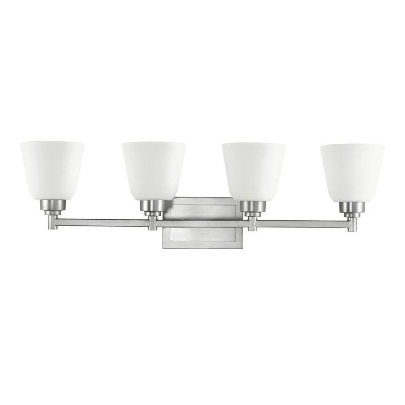 "Kichler 5151 Berwick 30"" Wide 4-Bulb Bathroom Lighting Fixture Brushed"