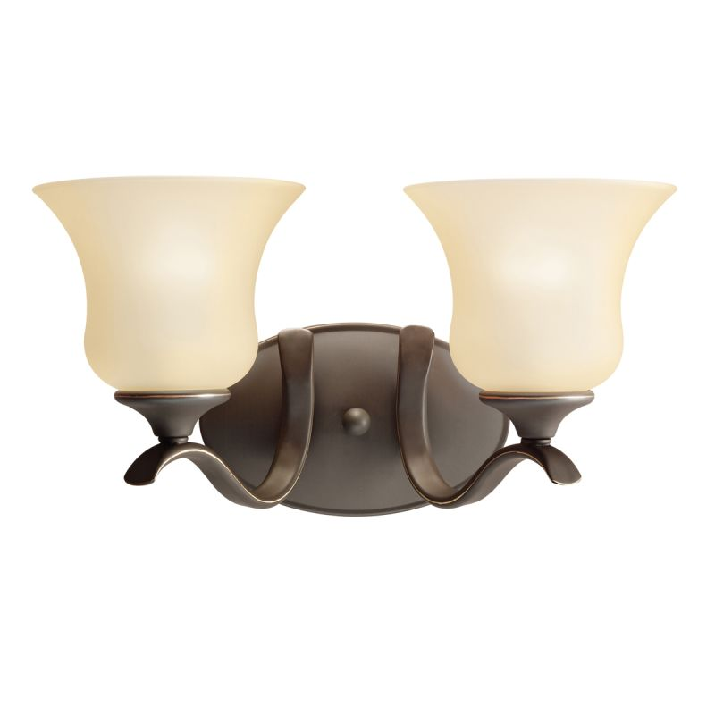 "Kichler 5285 Wedgeport 15"" Wide 2-Bulb Bathroom Lighting Fixture Olde"