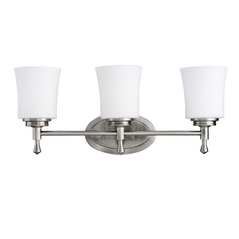 kichler 5361ni brushed nickel wharton 22 quot wide 3 bulb bathroom lighting fixture lightingdirect