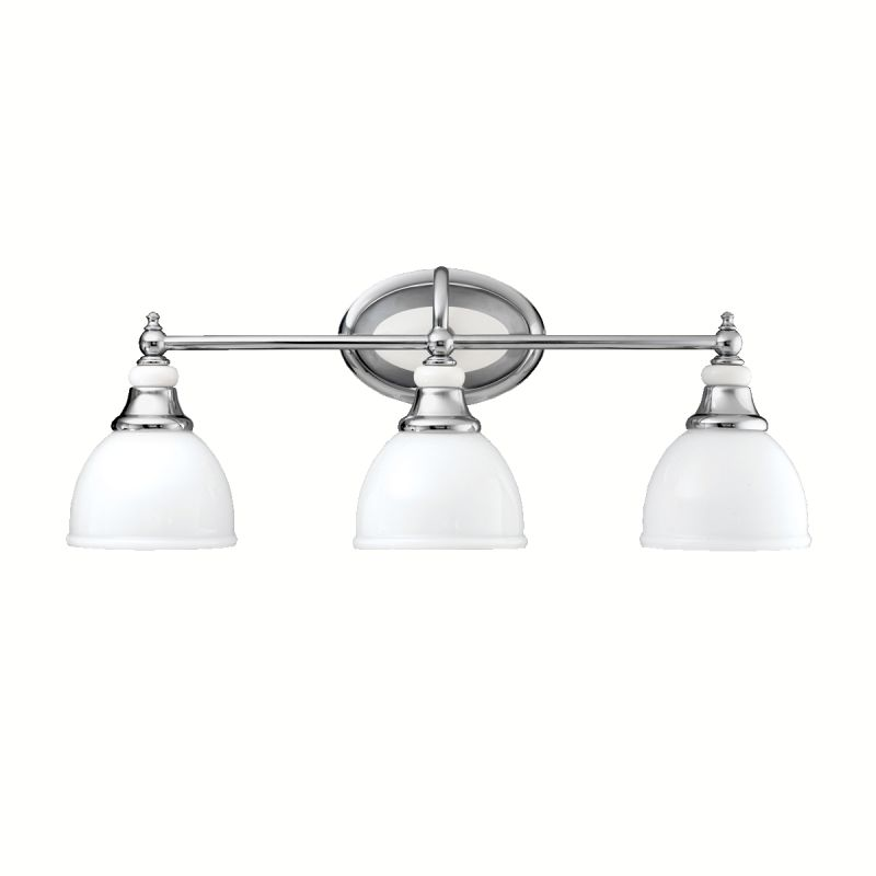 Kichler 5369ch Chrome Pocelona 24 Wide 3 Bulb Bathroom Lighting Fixture