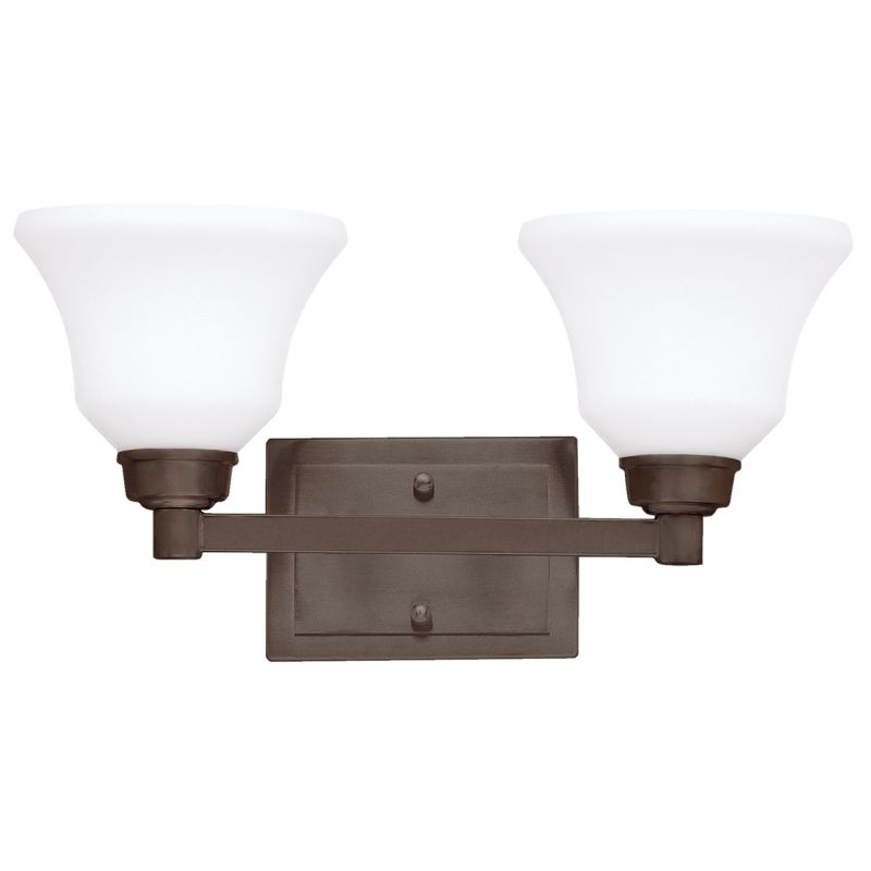 Kichler 5389 Langford 2 Light Bathroom Vanity Light Olde Bronze Indoor