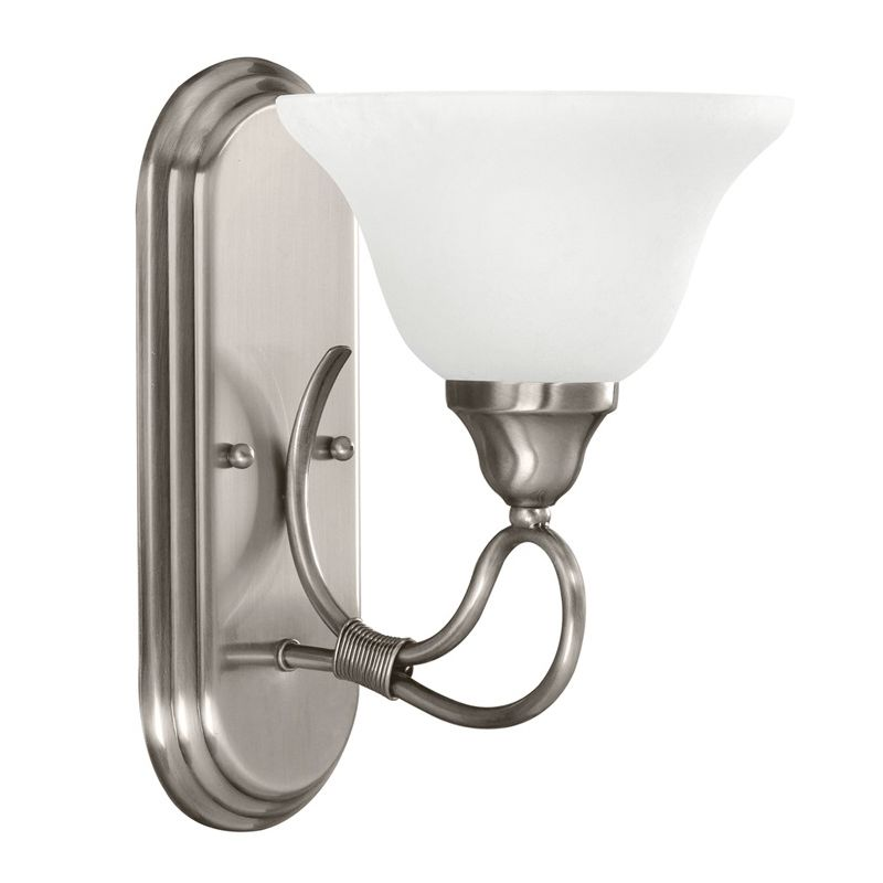 "Kichler 5556 Stafford 7.5"" Wide Single-Bulb Bathroom Lighting Fixture"