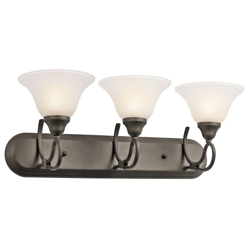 Kichler 5558 Stafford 25.5&quote Wide 3-Bulb Bathroom Lighting Fixture Olde